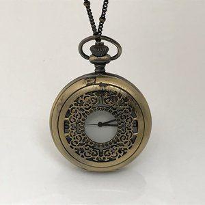 Pocket Watch Analog Necklace Watch